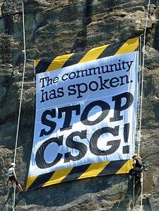 Stop CSG! Banner Drop