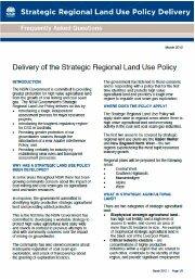 NSW Govt Strategic Land Use Policy
