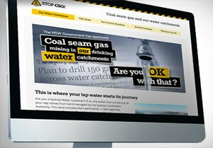 CSG and water catchments website