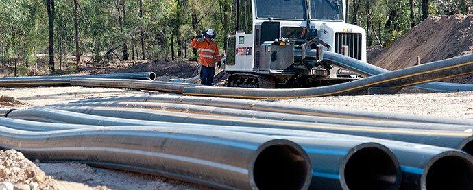 CSG Pipelines In the Pilliga (Photo Kate Ausburn)